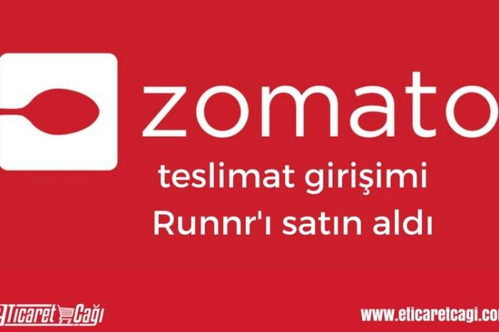 Zomato, teslimat girişimi Runnr'ı satın aldı