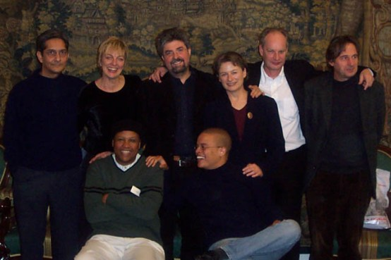In Vienna with South African authors Achmat Dangor, Marita van der Vyver and Johnny Masilela and Dutch authors Henk van Woerden and Alfred Schaffer.