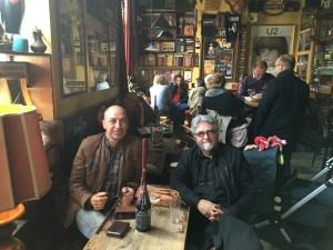 Etienne van Heerden with Belgian literary critic Ludo Teeuwen