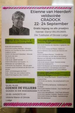 The programme of the Veld Soirée (Photo: Amy Coetzer)