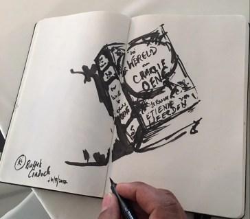 Novelist and artist Kirby van der Merwe captured the veld soirée in a series of 30-second-sketches