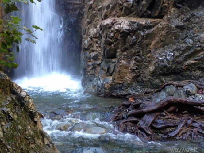 Millomeris waterfalls. Troodos mountain. Cyprus