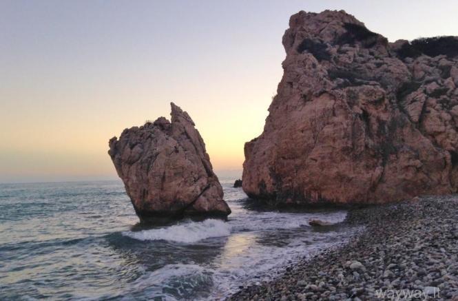 Aphrodite rock. Petra tou Ramiou. Cyprus