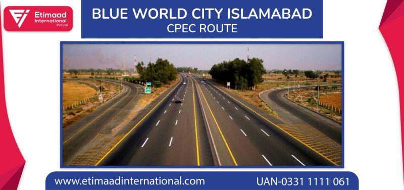 Blue World City CPEC Route