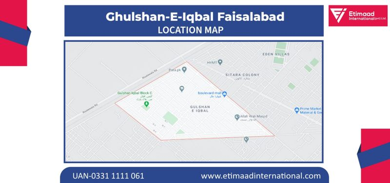 Ghulshan-e-Iqbal Location Map