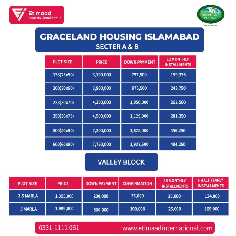Graceland Housing Society Payment Plan