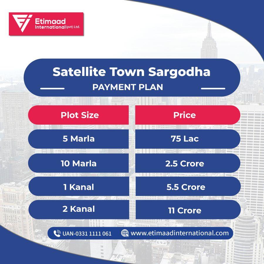 satellite town sargodha payment plan