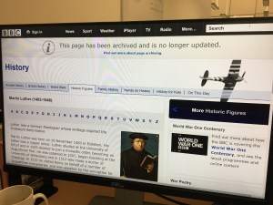 Martin Luther on the BBC website