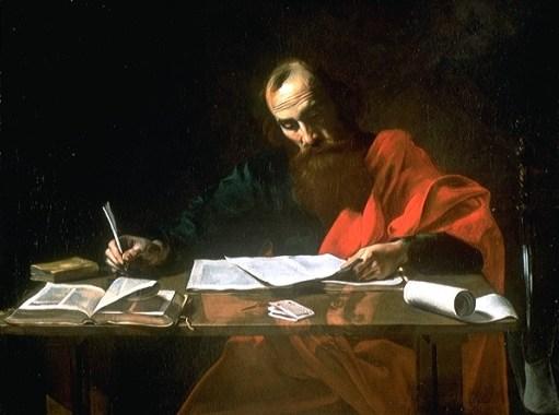 Valentin de Boulogne, 'Saint Paul Writing His Epistles' (17th century)