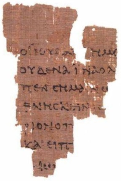 The Rylands Library Papyrus P52, a fragment from John's Gospel and our oldest known surviving New Testament manuscript