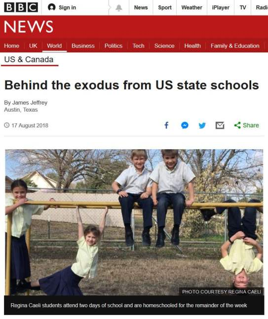 The story appeared on the BBC website on Saturday