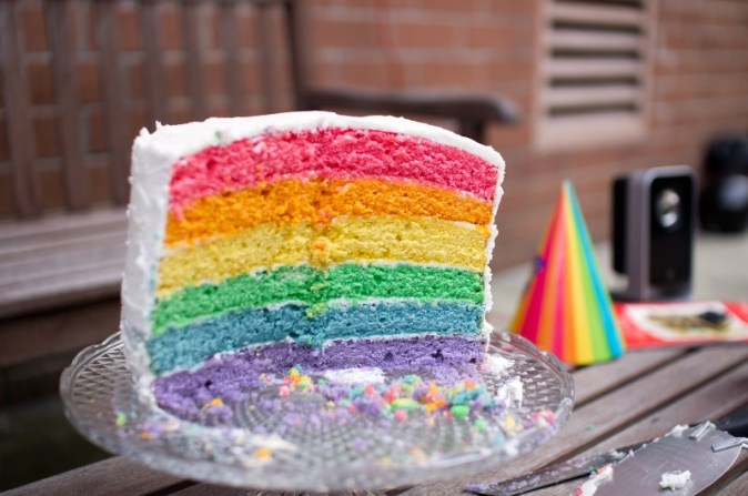 'Pride Cake' by Dan DeLuca, 27 June 2011. https://www.flickr.com/photos/dandeluca/5874874133 (Creative Commons Attribution 2.0, https://creativecommons.org/licenses/by/2.0/). The use of this photograph does not imply endorsement of this article by Dan DeLuca.