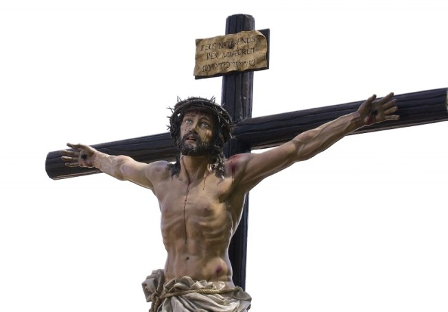 Statue of Jesus Christ on the cross. Photo courtesy of PublicDomainPictures.net under Creative Commons Licence. https://www.publicdomainpictures.net/en/view-image.php?image=234051&picture=jesus-christ-on-cross