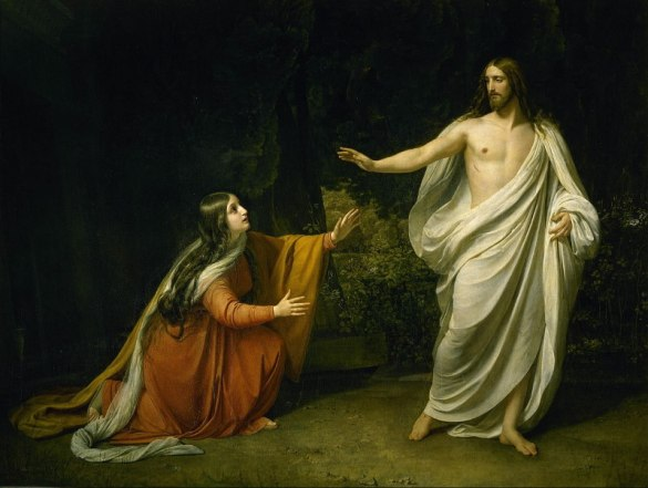 Alexander Ivanov, 'Christ's Appearance to Mary Magdalene after the Resurrection' (1835). Courtesy of Wikimedia Commons
