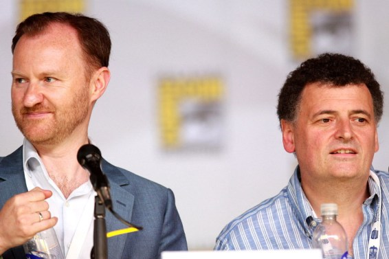 Mark Gatiss (left) and Steven Moffat, writers of the BBC and Netflix's Dracula. Courtesy of Gage Skidmore / Wikimedia Commons under Creative Commons Attribution-Share Alike 2.0 Generic licence