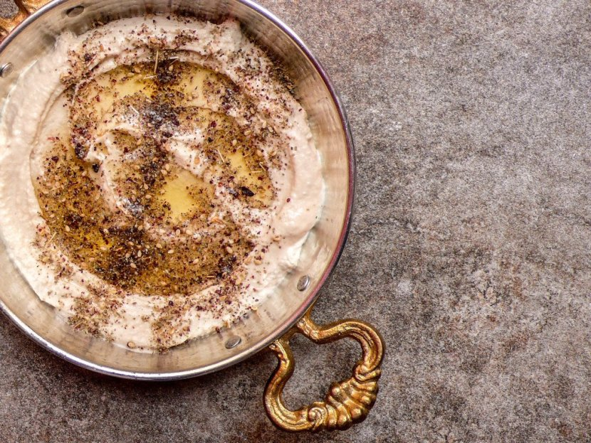 Hummus with za'atar - recipe / A kitchen in Istanbul