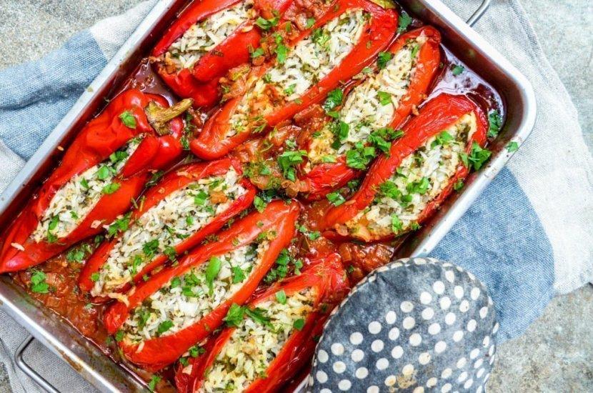 Fylte paprika med ris, ost og kjøttdeig (1 of 3)