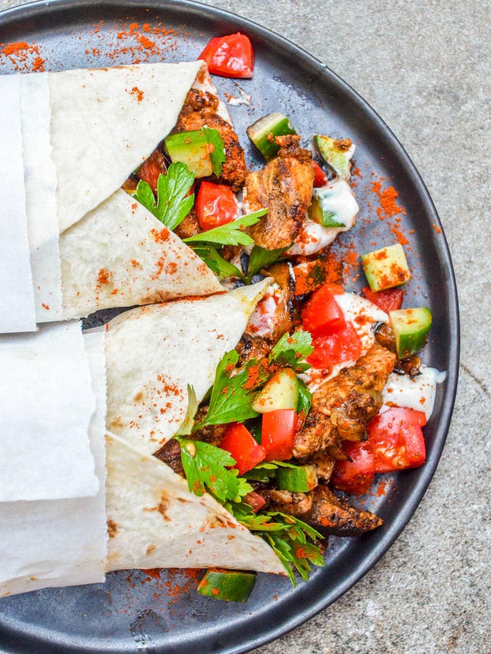 Kylling shawarma wrap / Et kjøkken i Istanbul