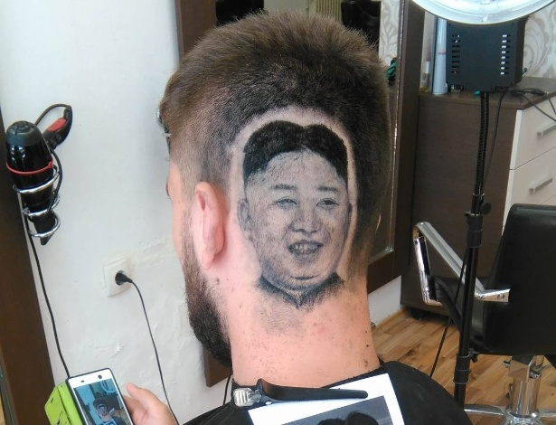 Barbeiro sonha com Kim Jong-Un e desenha o ditador na cabeça de um cliente
