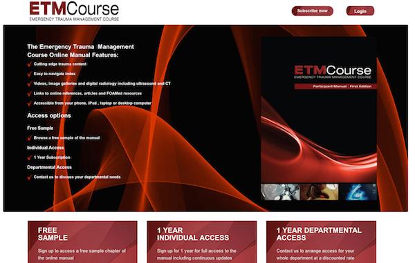 ETM Manual Screen Shot