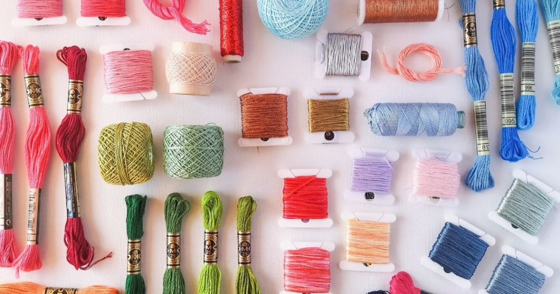 Threads and floss for hand embroidery, pearl cotton, Cotton floss