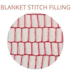 Blanket stitch filling