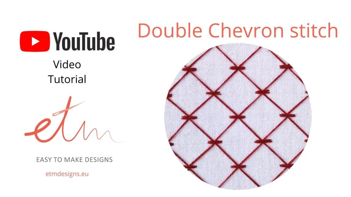 Double chevron stitch filling video tutorial cover