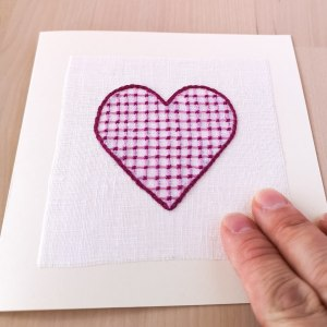 Making a valentine's day card