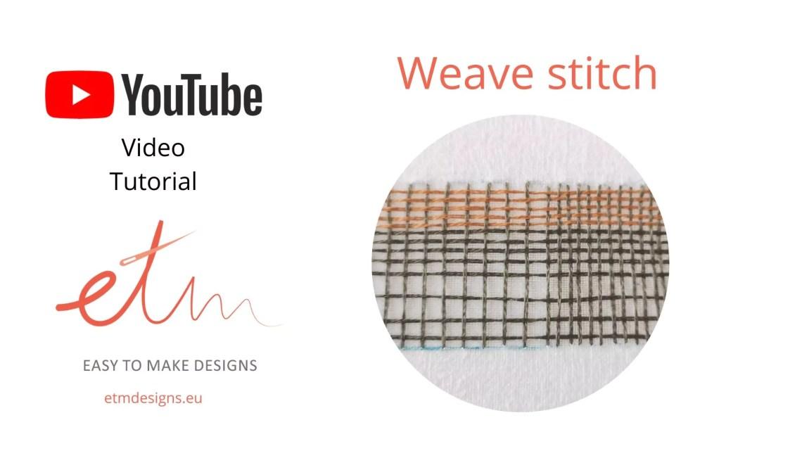 Weave stitch video tutorial cover