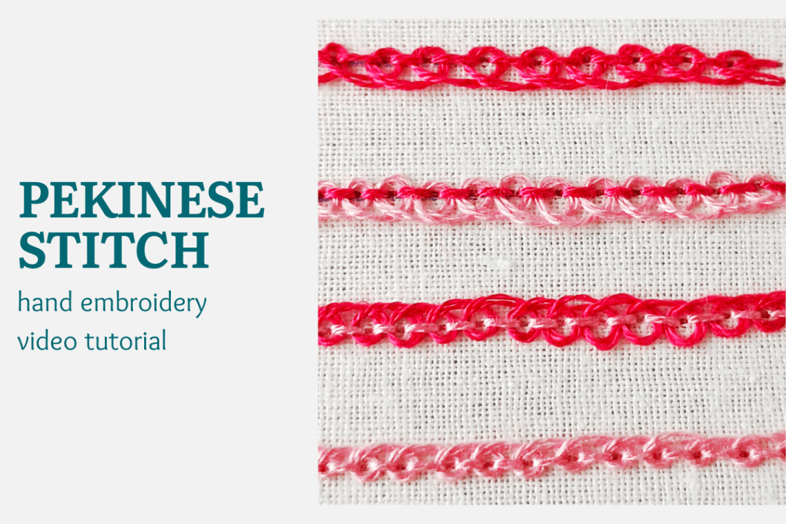 Pekinese stitch video tutorial