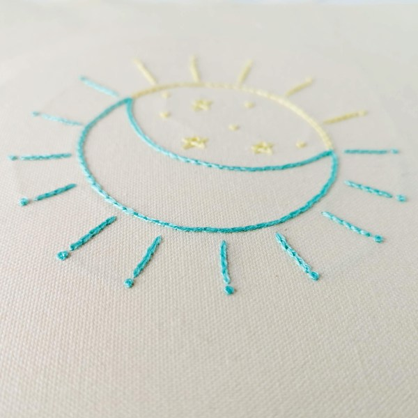Eclipse hand embroidery pdf pattern