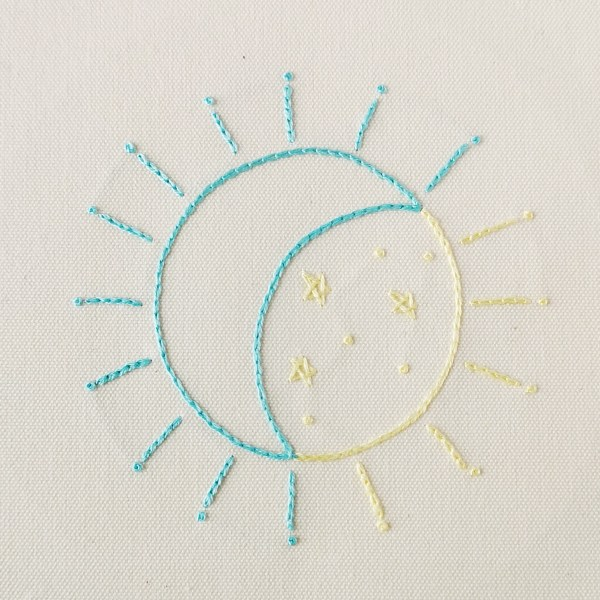 Eclipse hand embroidery pdf pattern for beginners 4