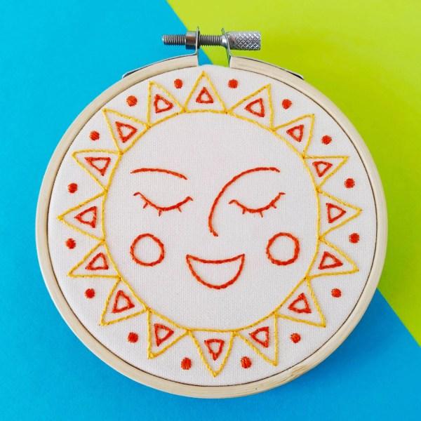 Happy Sun hand embroidery pdf pattern 3