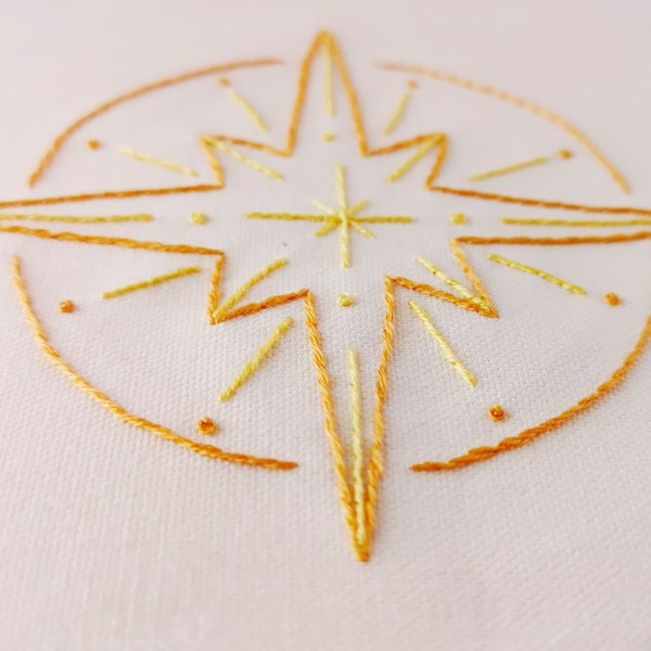North Star hand embroidery pdf pattern 2