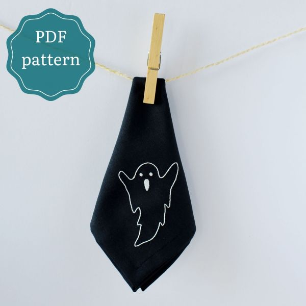 Halloween ghost hand embroidery pdf pattern