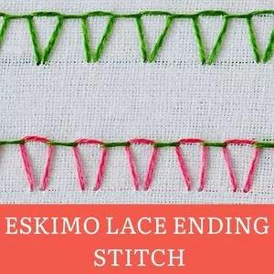 Eskimo lace ending stitch