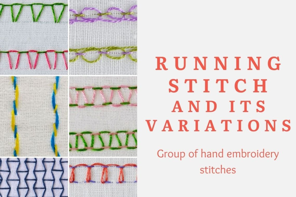 Running stitch and its variations