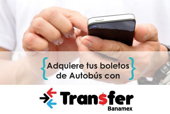 Compre sus boletos de autobús con Transfer Banamex 4