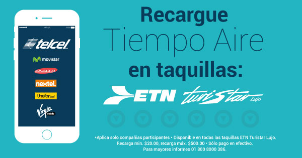 Tiempo aire disponible en taquillas