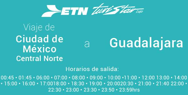 Autobuses de México a Guadalajara
