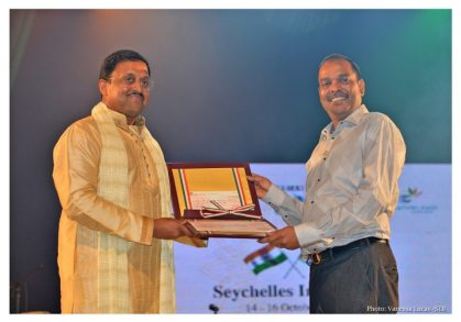 Seychelles & India celebrate with generous gift and new stamp