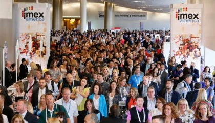 First day at IMEX America: Busy and thriving