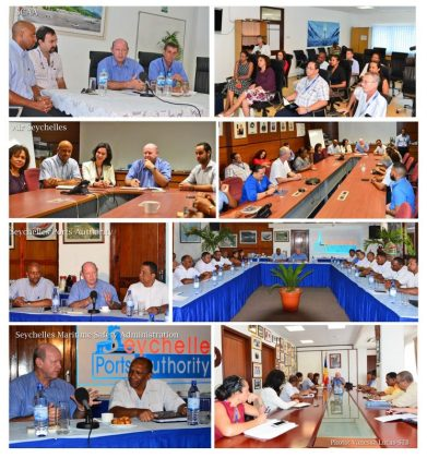 Minister Alain St Ange meets with heads of new Ministry of Tourism, Civil Aviation, Ports & Marine