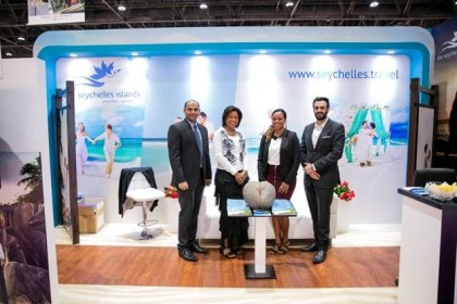 Seychelles Tourism Board and Air Seychelles present at the Bride Abu Dhabi Show