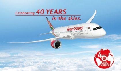 Kenya Airways celebrates 40 years in the skies