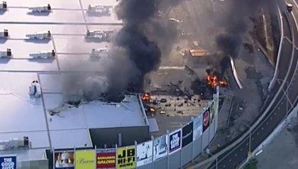 Plane crash is a fiery blaze at Melbourne airport