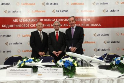 Lufthansa and Air Astana sign codeshare agreement