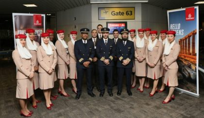 Emirates Airlines starts Newark- Athens service