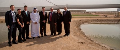 Etihad Airways check on biofuel progress at Masdar