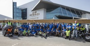Etihad Airways turns autism awareness day into a motorbike parade